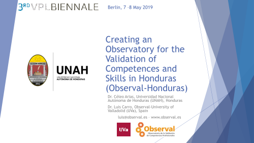 Creating an Observatory for the Validation of Competences and Skills in Honduras (Observal-Honduras)